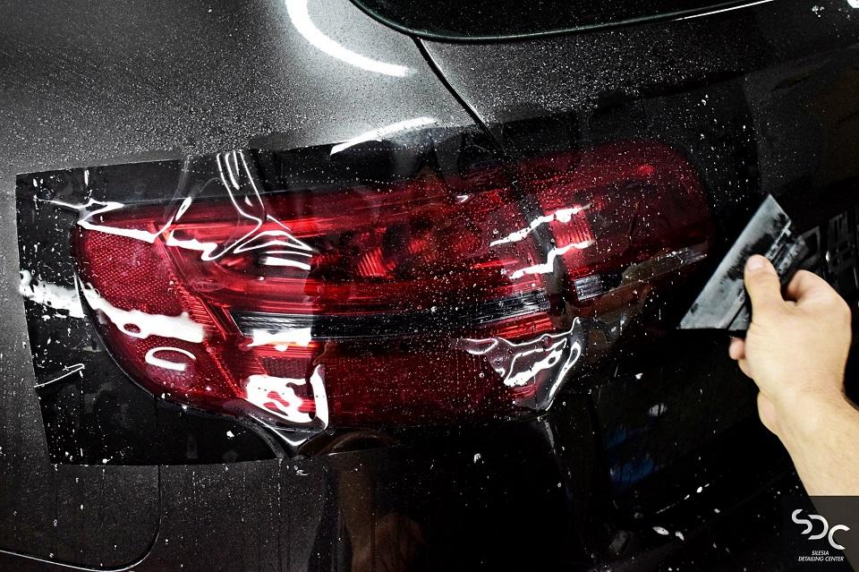 Audi A3 Folia PPF przyciemniająca lampy